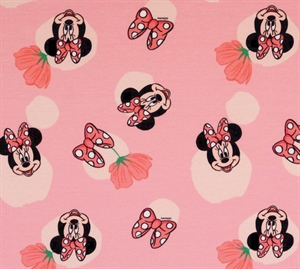 Hemmers Bomulds Jersey Minnie Mouse Pink